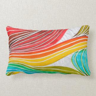 Modelo de onda dibujado por las pinturas de la cojín