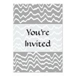 Modelo de onda gris y blanco invitacion personal