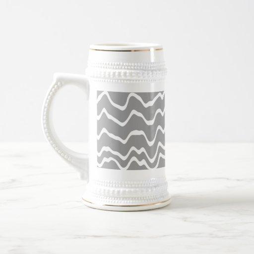 Modelo de onda gris y blanco tazas