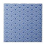Modelo de onda japonés blanco del azul de cobalto azulejos ceramicos