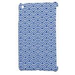 Modelo de onda japonés blanco del azul de cobalto iPad mini carcasa