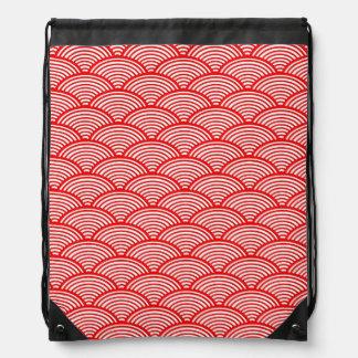 Modelo de onda japonés mochilas