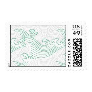 Modelo de onda japonés timbres postales