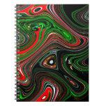 Modelo de onda libro de apuntes con espiral