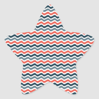 Modelo de onda calcomanias forma de estrella