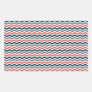 Modelo de onda rectangular pegatinas