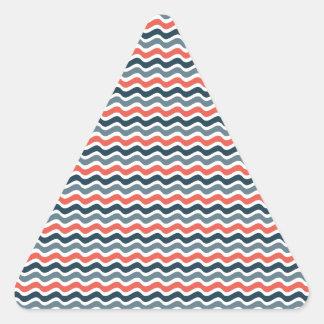 Modelo de onda pegatina trianguladas personalizadas