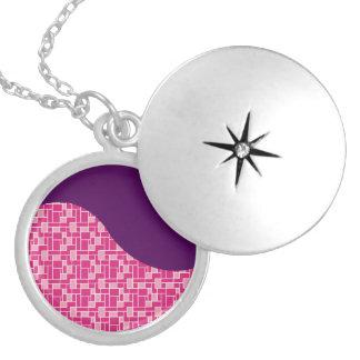 Modelo de onda púrpura de las tejas coloridas rosa pendientes