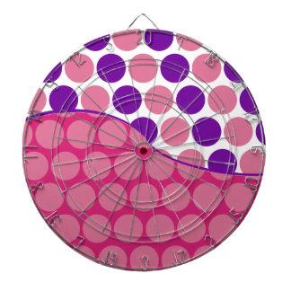 Modelo de onda rosado de la diversión y púrpura gr tablero de dardos