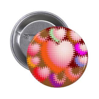 Modelo de onda sensual del corazón de las cosquill pin redondo de 2 pulgadas