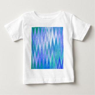 Modelo de ondas abstracto azul de Chevron Remeras