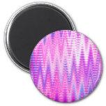 Modelo de ondas abstracto rosado de Chevron Imán De Frigorifico