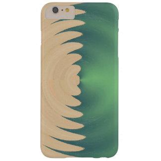 Modelo de ondas abstracto verde poner crema funda de iPhone 6 plus barely there
