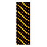 Modelo de ondas amarillo y anaranjado del círculo plantillas de tarjetas personales
