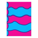 Modelo de ondas azul del color de las rosas invitación 12,7 x 17,8 cm