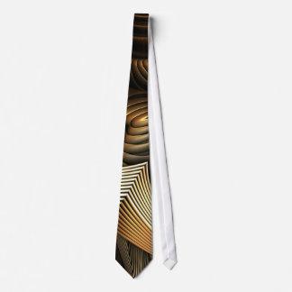 Modelo de ondas de oro del metal corbata