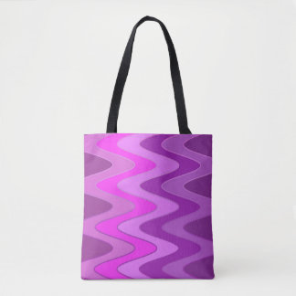 Modelo de ondas del sino - magenta rosada + sus bolsa de tela