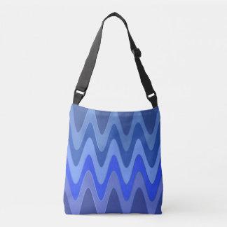 Modelo de ondas del sino - mezcla azul + sus ideas bolsa cruzada