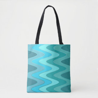Modelo de ondas del sino - mezcla del azul de bolsa de tela