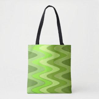 Modelo de ondas del sino - mezcla verde + sus bolsa de tela