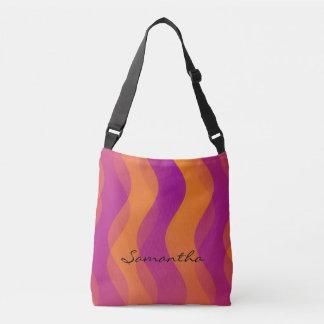 Modelo de ondas suave - naranja rosado bolsa cruzada