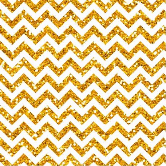 Modelo de oro de Chevron del brillo Fotoescultura Vertical