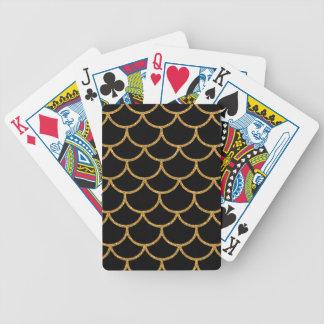 Modelo de oro de la concha de peregrino baraja de cartas
