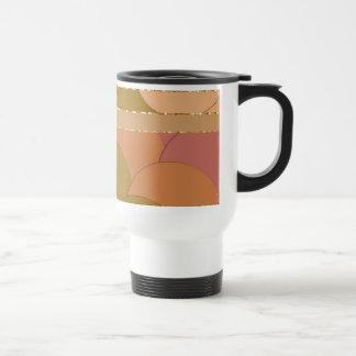Modelo de oro de los círculos taza de café