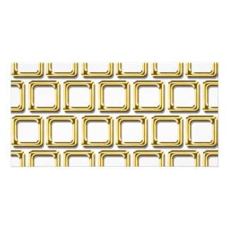 Modelo de oro de los marcos tarjetas fotograficas personalizadas