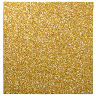 Modelo de oro del brillo servilleta de papel