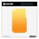 Modelo de oro del vector del panal iPod touch 4G skin