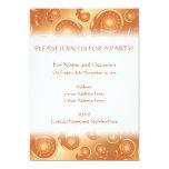 Modelo de Paisley de Brown y del naranja Invitación 12,7 X 17,8 Cm