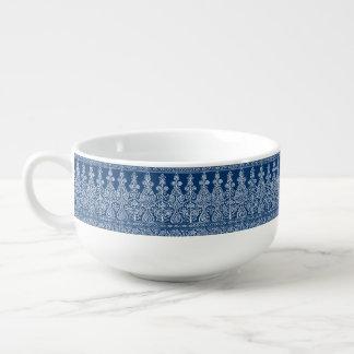 Modelo de Paisley de los azules añiles y del Cuenco Para Sopa