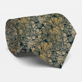 modelo de Paisley del trullo y del oro con Corbata Personalizada