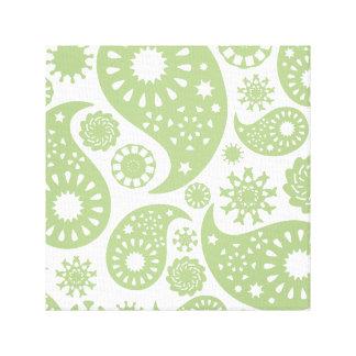 Modelo de Paisley del verde verde oliva Impresiones En Lona