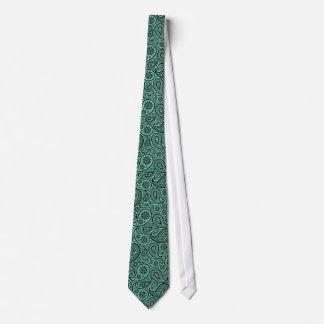 Modelo de Paisley del vintage del negro y de la Corbata Personalizada