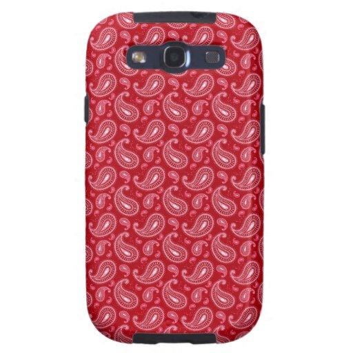Modelo de Paisley en rojo Galaxy S3 Cobertura