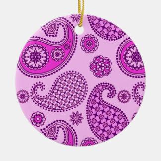 Modelo de Paisley, orquídea y púrpura amethyst Ornamente De Reyes