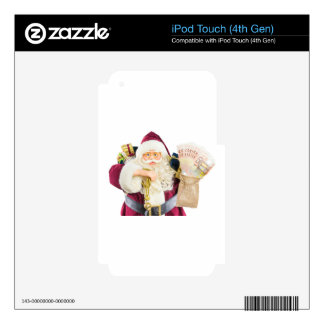 Modelo de Papá Noel con los regalos y el dinero de Skins Para iPod Touch 4G