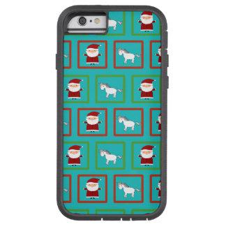 Modelo de Papá Noel de los unicornios de la Funda Para iPhone 6 Tough Xtreme