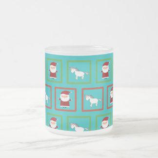 Modelo de Papá Noel de los unicornios de la Taza Cristal Mate