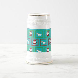 Modelo de Papá Noel de los unicornios de la Jarra De Cerveza