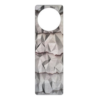 Modelo de papel arrugado colgadores para puertas