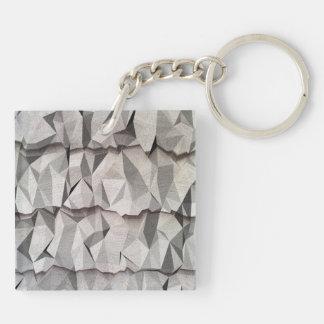 Modelo de papel arrugado llavero cuadrado acrílico a doble cara