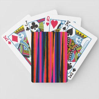 Modelo de papel rasgado colorido baraja de cartas bicycle