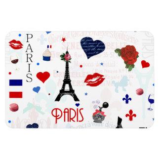Modelo de París con la torre Eiffel Imanes Flexibles