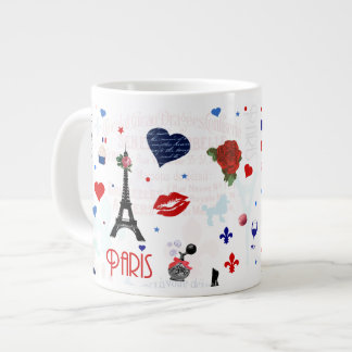 Modelo de París con la torre Eiffel Tazas Jumbo