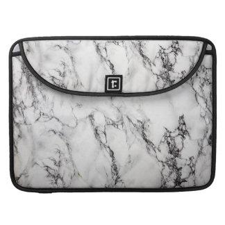 Modelo de piedra de mármol gris claro y blanco funda macbook pro
