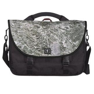 Modelo de piedra de mármol retro de la textura bolsas para portatil