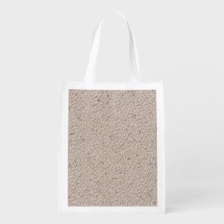 Modelo de piedra de mármol retro de la textura bolsas reutilizables